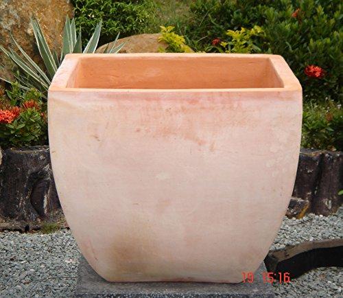 Blumentopf Echt Terrakotta 40 x 40 cm Blumenkübel für Garten und Wohnung Terracotta Kein Kunststoff Blumen