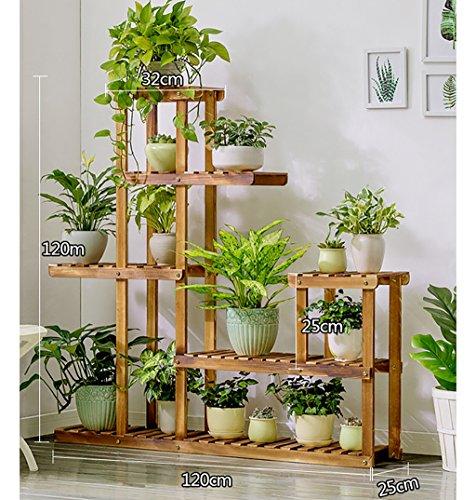 Betriebsstand Indoor outdoor mehrschichtige blume rahmen einfach und boden stil echtholz blume regal einfache moderne stil Mehrstufiges Blumenregal