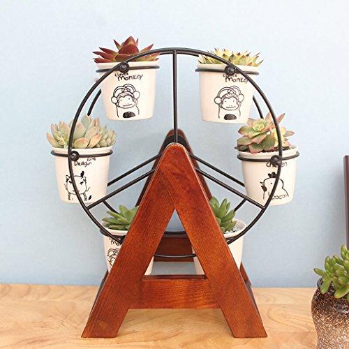 Dongyd Mini-Blumenständer Echtholz Büro Blumenständer Fensterbank Blumentopf Regal