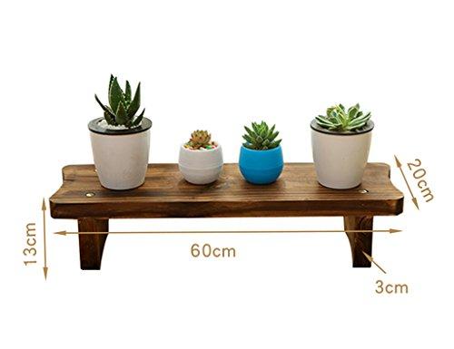 Pflanzenregale ZCJB Balkon Wohnzimmer Antiseptische Holz Multilayer Sukkulenten Blumen Regal Echtholz Floorstanding Single Layer größe  6013cm