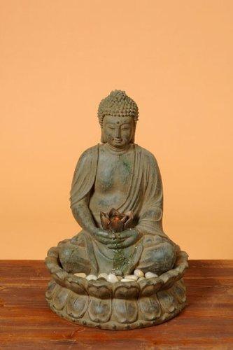 Buddha Brunnen mit LED Beleuchtung Höhe 50cm Aussen geeignet