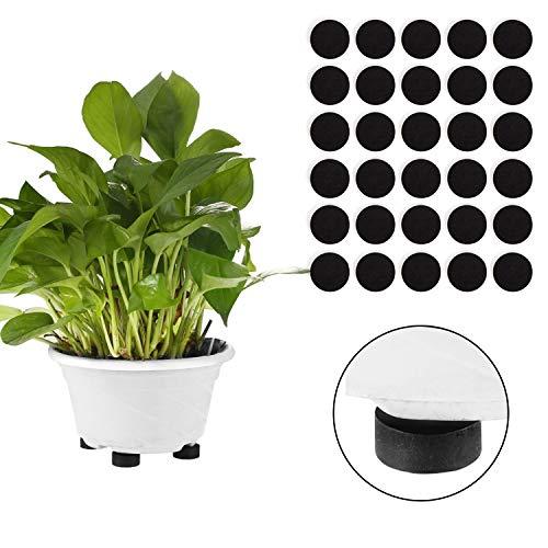 Blumentopf Untersetzer 40er Set Unsichtbare Topf-Füße für Pflanzen- und Blumenkübel - Selbstklebende Rutschfeste Pflanztopf Halter zum Schutz vor Flecken auf Boden und Fliesen - Kübel-Füsse