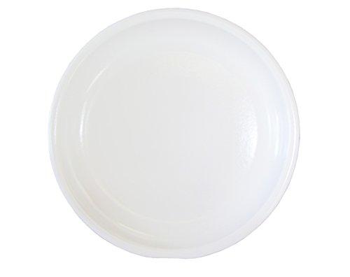 Hentschke Keramik Untersetzer für BlumentopfPflanztopf frostsicher Ø 35 x 4 cm Stellfläche 28 cm 09903504 weiß Made in Germany