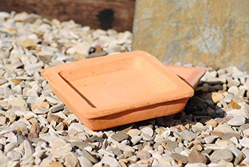 Kunert-Keramik VogeltränkeUntersetzerEckig2er SetTerracotta22cm