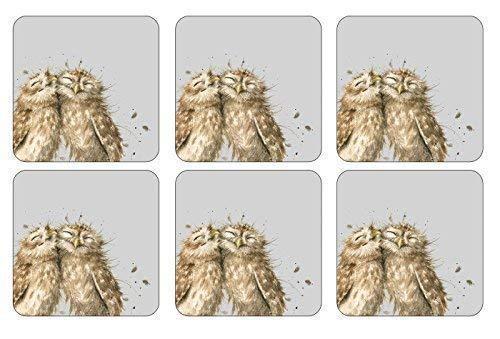 Set 6 Baby Eule Korken Hitzebeständig Untersetzer 105 X 105 X 05CM
