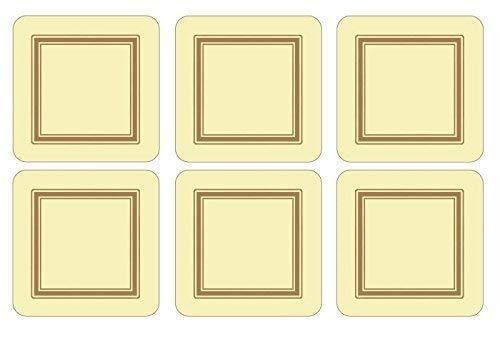 Set 6 Creme-Gold Eingefasst Klassisch Korken Tischsets Untersetzer