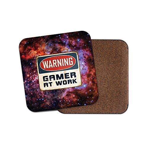ACHTUNG Gamer at Work Kork Getränke Untersetzer für Tee Kaffee  4184 holz 3 Coaster
