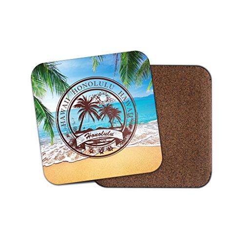 Hawaii Honolulu Kork Getränke Untersetzer für Tee Kaffee  0112 holz 4 Coaster