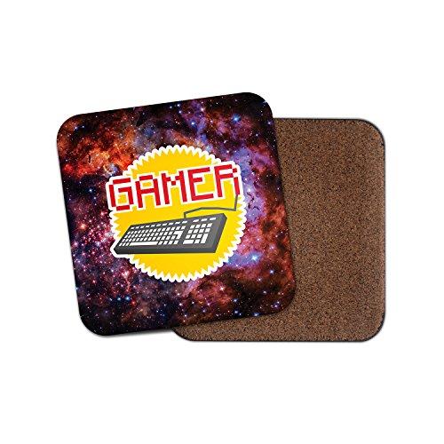 Retro Gamer Kork Getränke Untersetzer für Tee Kaffee  4199 holz 3 Coaster