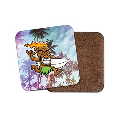 Tiki Surf Hawaii Aloha Kork Getränke Untersetzer für Tee Kaffee  4026 holz 3 Coaster