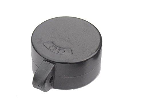 Ösenkappen Hart-PVC schwarz für Rohrpfosten Ø 42mm - Paket á 10 Stk