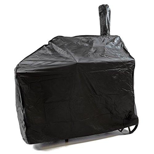 Nexos Schutzhülle für Smoker Abdeckung Wetterschutz Plane Cover 120gPVC schwarz pflegeleicht Haube Grillabdeckung 150x65x135 passend für GZ35612 Hülle wasserdicht