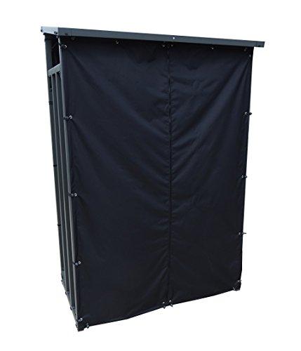 Wetterschutz Set Front und Rückwand zu Kaminholzunterstand 130x70x203cm PVC Schwarz