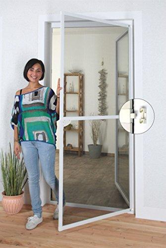 1PLUS Insektenschutz Alu Spannrahmen System premium für Türen in verschiedenen Größen und Farben verfügbar 120 x 240 cm Weiß