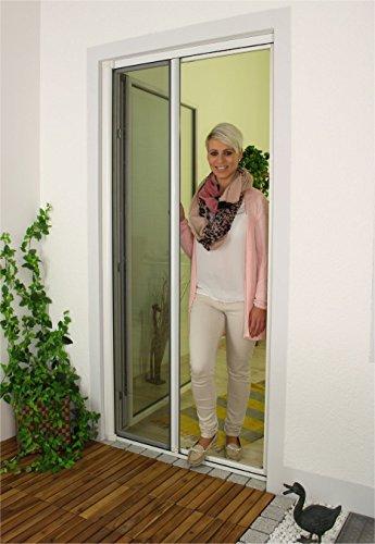 1PLUS Premium Aluminium Insektenschutz Rollo für Türen in verschiedenen Größen und Farben Farben 120 x 225 cm Weiß