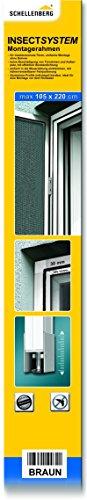 Schellenberg 50761 Montagerahmen 105 x 220 cm braun für Insektenschutz-Türen