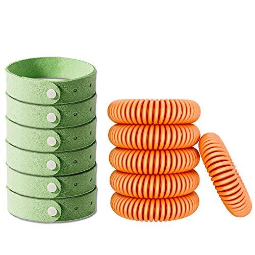 AXYSM 12 Stück Mückenschutz Anti Moskito Insektenschutz Armband - Natürliches Moskitoschutz Armband für Kinder und Erwachsene Draußen und Drinnen