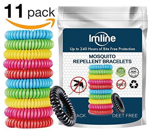 Imline Mückenschutz Armband 11 Stück Mückenarmband Insektenschutz Natürliche zuverlässige Mückenabwehr Anti Mücken Outdoor Indoor Moskito