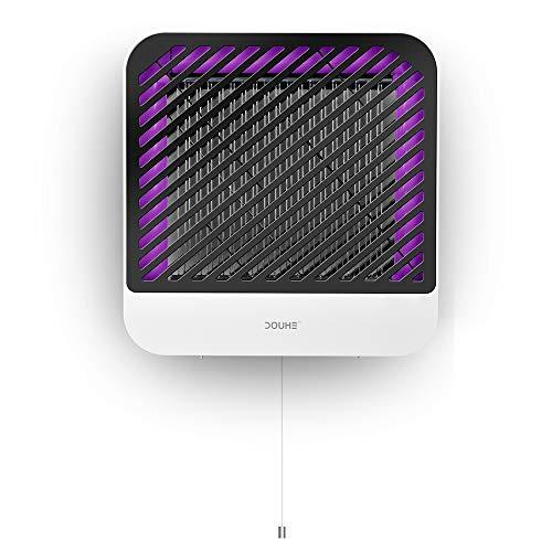 DOUHE Moskito Killer elektrischer insektenvernichter Mückenfalle UV LED elektrisch 110V Moskito Indoor Lampe Elektroschock abnehmbares Aufbewahrungsbox ohne Chemikalie kinderfreundlich für max 80 m²