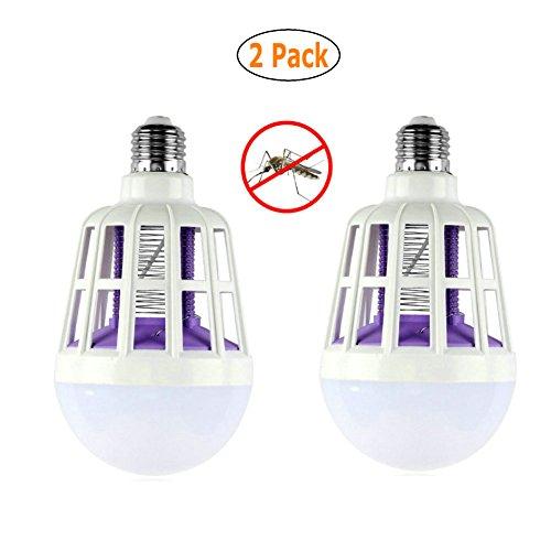 GuDoQi 2 Packung Moskito Killer LED Birne 220V 15W Verstellbare Moskito Killer Lampe Elektrische Falle Licht elektronische Insekt Fliegen Innen Zu Hause