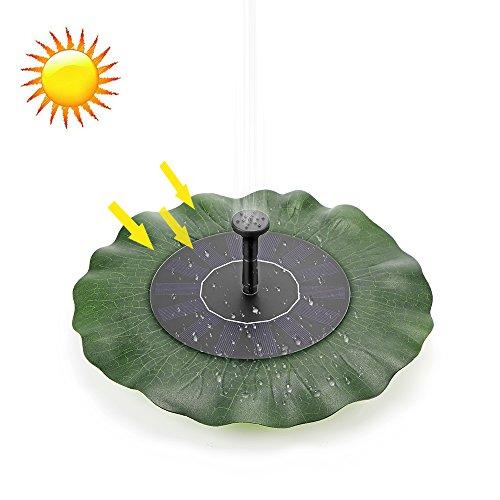 AOZBZ Solar Brunnenpumpe Vogel Bad Brunnen Pumpe Solar Panel Kit Wasserpumpe für Garten Patio Teich Pool Aquarium Aquarium