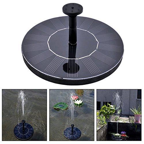 Itian Outdoor Solar Powered Wasser schwimmende Pumpe Brunnen Solar schwimmender Mini Pumpe Garten Wasserpumpe Vogelbad Teich Pool und Gartendekoration