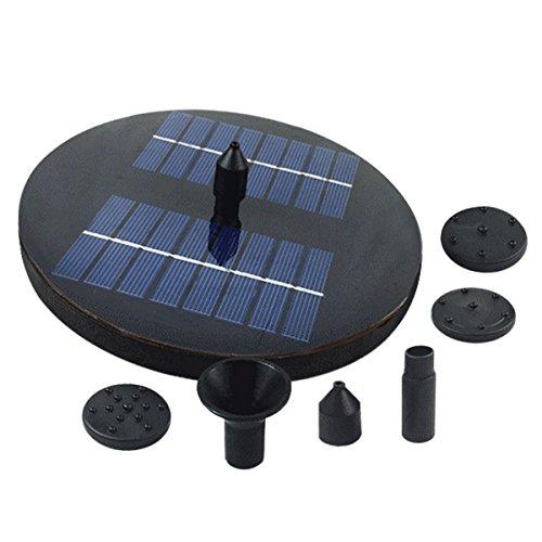OUNONA Wasser-Pumpe 16W Solar mit LED beleuchtet Bewässerungs-im Freien Wasser-Brunnen für Teich-Pool-Aquarium-Brunnen-Tüllen-Garten-Patio