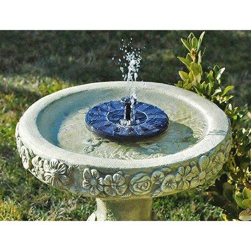 SOLEDI Solar Panel Wasser schwimmende Pumpe Brunnen Garten Pool Bewässerung Solar Pumpe Set