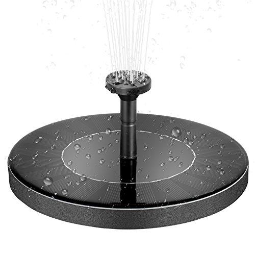 Solar Power Brunnen Pumpe integrierter Akku verbesserte solarbetrieben Vogeltränke freistehend Wasserpumpe Panel Kit Künstliche Bewässerung Floating Tauchpumpe Füllhalter für Teich Pool Aquarium Garten etc