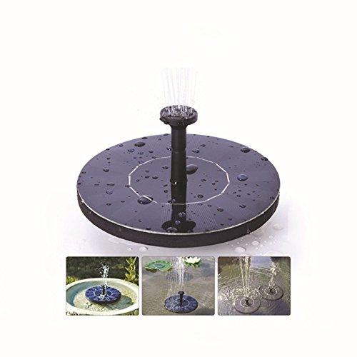 Solar-Springbrunnen zantec Wasserpumpe Solar Pumpe schwimmenden Wasser Solarpanel Garten Bewässerung Brunnen Pool Teich oder Garten