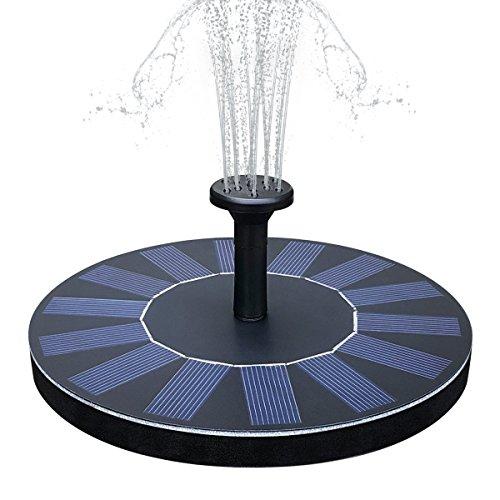 Yaogroo Solar Brunnen solarbetriebene Wasserfontäne Pumpen Panel Kit Outdoor Tauchpumpe für Teich Pool Patio Aquarium Fish Tank