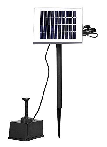 AUFUN 2W Solarpumpe Teich Springbrunnen Teichpumpe Solar Bürstenlose Solarpumpe Akku Solar Wasserspiel Fontäne Pumpe für Gartenteiche