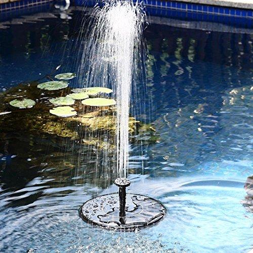 Samoleus Solar Brunnen Pumpe 7V 14W 50CM Garten Springbrunnen Solar Wasserpumpe für Teich Garten 160LH Schwarz