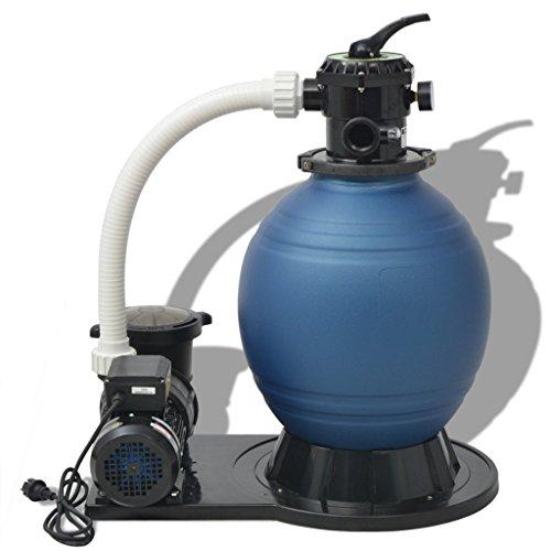 vidaXL Sandfilter 1000W 16800Lh Poolfilter Sandfilteranlage Filteranlage