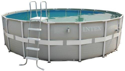 Intex Aufstellpool Frame Pool Set Ultra Rondo Grau Ø 488 x 122 cm