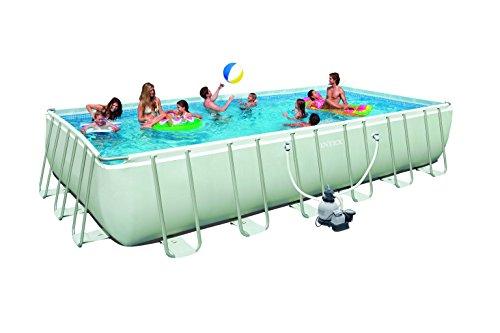 Intex Ultra Frame Pool Set grau 732 x 366 x 132cm