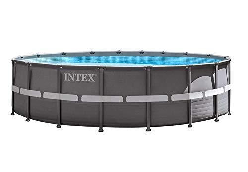 Intex Ultra Rondo Frame Pool Set 19156 liters Grau Durchmesser 488 x 122 cm