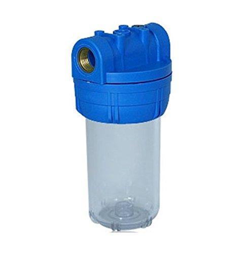 1 Filtergehäuse 5 mit 1 Zoll Wasseranschluß Innengewinde Wasser Vorfilter Gehäuse osmoseanlage Wasserfilter Umkehr Osmose Trinkwasser Filter Anlage Hauswasserwerk Brunnen Regenwasser Pumpe Poolfilter