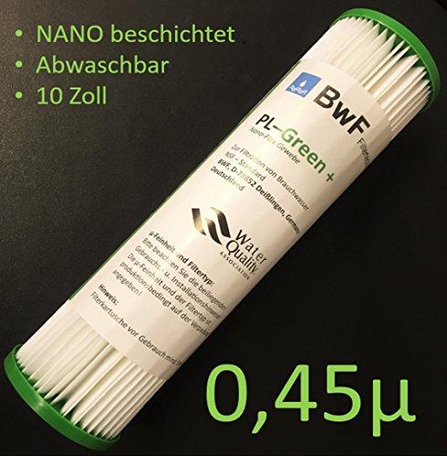 BWF ORIGINAL Neu NANO beschichtet Filter Membran Sediment 045µm -besser Auswaschbar- auch für OSMOSE UMKEHROSMOSE WASSERFILTER ANLAGEN SEDIMENTFILTER Polypropylene NANO beschichtet NEU