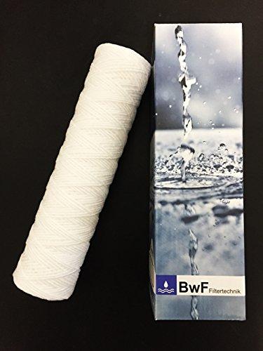 BWF ORIGINAL PS Wickelfilter Spezial - Wählen Sie die FEINHEIT Mikron abwaschbar Mehrwegkartusche Schmutzfilter Sedimentfilter Vorfilter für Wasserfilter Umkehrosmose Anlage Hauswasserwerk Brunnenwasser Garten Pool 20µ