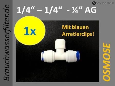 Workhorse T-StÜCK - VERTEILER 14 Schlauch für Schnellverbindung Quickanschluss Osmose Osmoseanlage Wasseraufbereitung kompatible zu vielen Anlagen Wasserfilter Wasserfiltertechnik