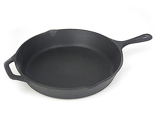 Santos Grillpfanne Gusseisen Gusspfanne Pfanne Grillzubehör Guss für Gasgrill oder Kohlegrill - Ø 25cm