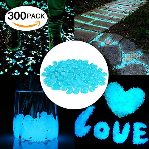 Cozzine Leuchtsteine Bright dekorative Steine leuchtende Steine für GratenGehwegAquariumVaseBaum-BlumenbeeteSchwimmbadStraße-Deko300 Stück