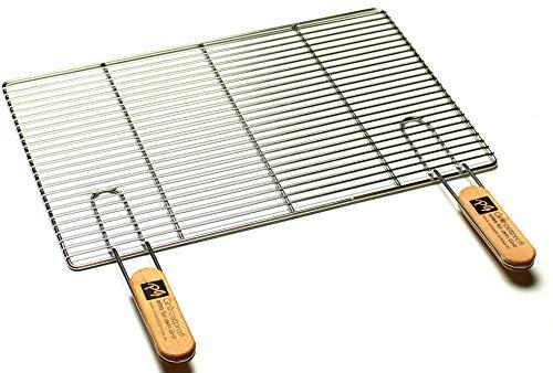 Grillrostprofi Edelstahl-Grillrost mit abnehmbaren Handgriffen 50 x 35 cm