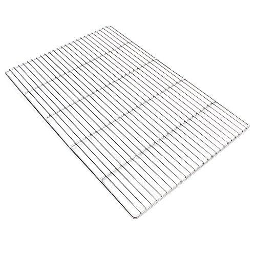 Wiltec Edelstahl Grillrost eckig 60 x 40 cm rostfrei für Holzkohlegrill Gasgrill und andere