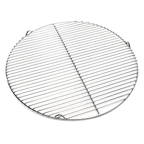 Wiltec Edelstahl Grillrost rund 55 cm rostfrei für Holzkohlegrill Gasgrill Schwenkgrill