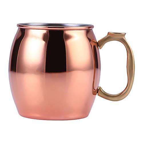 Igemy Edelstahl 304 Kupfer Tasse Becher Tasse Moskau Esel Mule Cup Cocktail Glas Rosegold