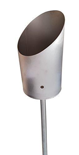 Intelmann Gartenfackel Edelstahl Toilettenpapier-Fackel Klopapier-Fackel Windlicht