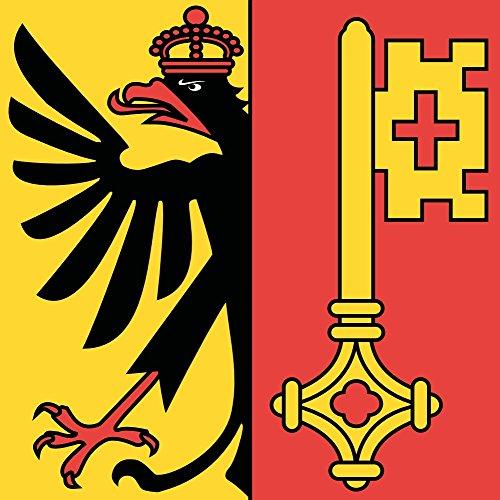 magFlags Flagge XXS Republik und Kanton Genf  Fahne 024m²  50x50cm » Fahne 100 Made in Germany
