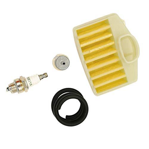 Shioshen Luftfilter Kraftstoffschlauch Zündkerze Tune Up Wartungs-Kit für Husqvarna 350 340 345 346 XP 351 353 Kettensäge Teile